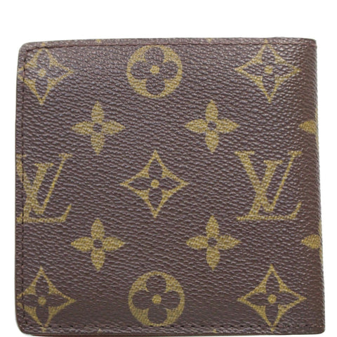 LOUIS VUITTON Marco Monogram Canvas Bifold Wallet Brown