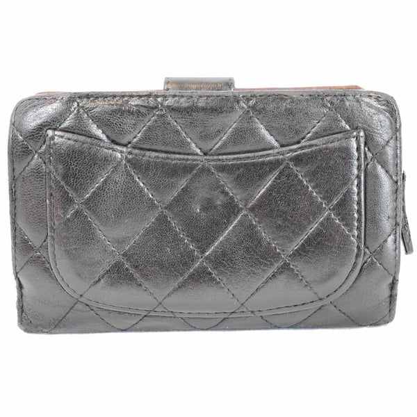 Chanel CC Lambskin Leather Bifold Wallet Pouch