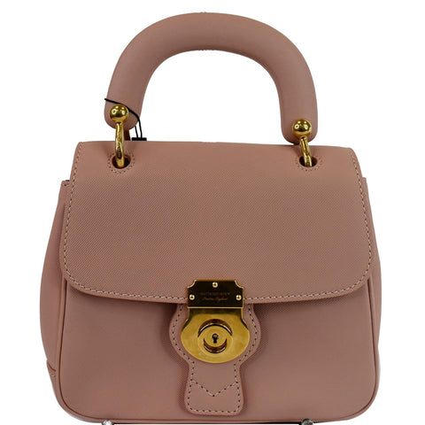 BURBERRY Trench Small DK88 Top Handle Crossbody Bag Ash Rose