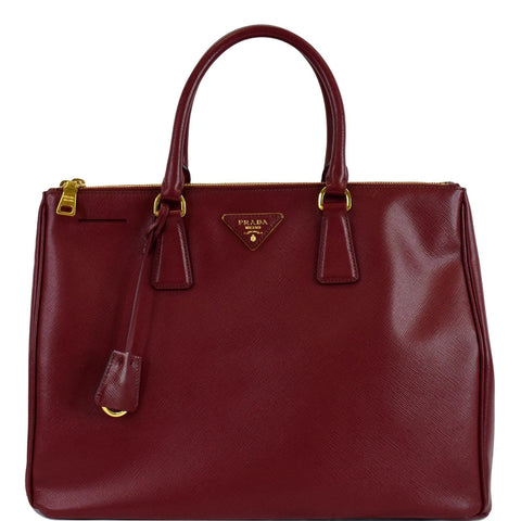 PRADA Lux Large Saffiano Leather Tote Bag Red