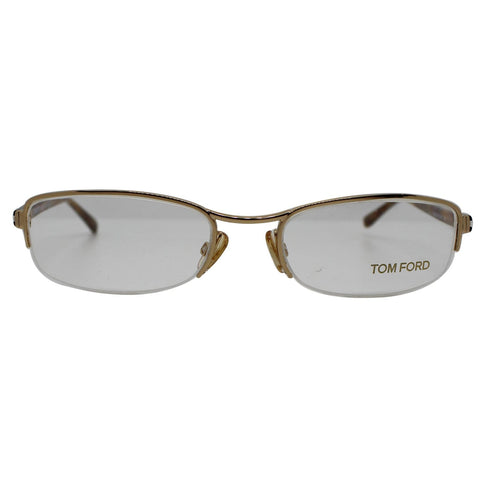 Tom Ford FT5023 772 Eyeglasses Gold Frame Demo Lens