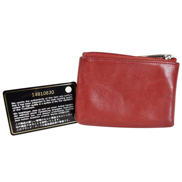 Chanel CC Key Ring Lambskin Leather Coin Case Pouch