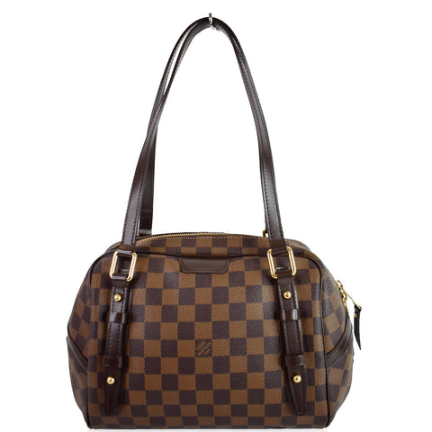 LOUIS VUITTON Rivington PM Damier Ebene Shoulder Bag Brown