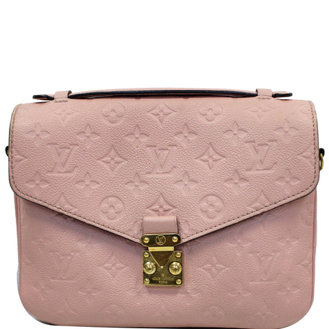 LOUIS VUITTON Metis Pochette Empreinte Leather Crossbody Bag Rose Poudre