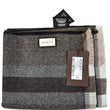 Gucci Web Stripe Wool Scarf Brown 387574 For Women gucci tag