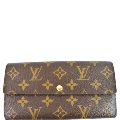 LOUIS VUITTON Monogram Canvas Sarah Wallet Brown