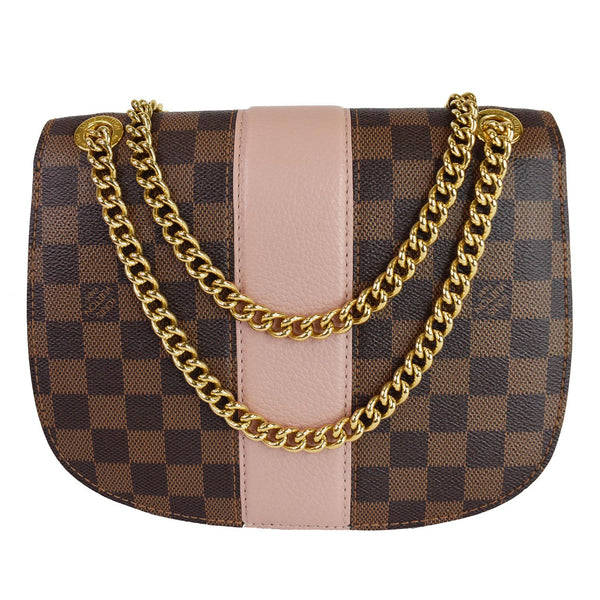 Louis Vuitton Wight Damier Ebene Crossbody Bag Magnolia - golden chain