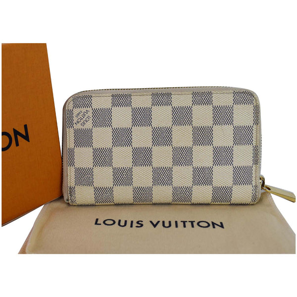 Louis Vuitton Damier Azur Zippy Organizer Wallet White - full view