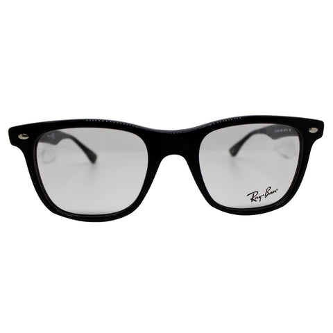 Ray-Ban RX5248 2000 49 Shiny Black Frame Eyeglasses Demo Lens