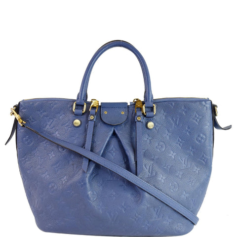 LOUIS VUITTON Mazarine MM Monogram Empreinte Shoulder Bag Blue
