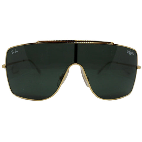 Ray-Ban RB3697 905071 35 Wings II Men Sunglasses Dark Green Classic Lens