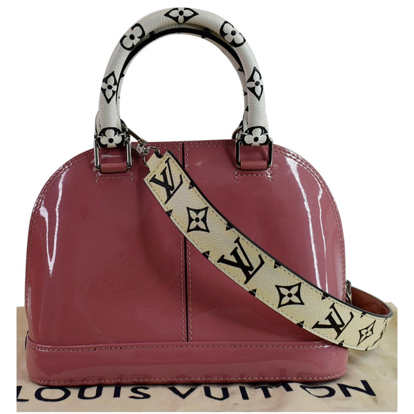 LOUIS VUITTON Alma BB Patent Leather Shoulder Bag Rose Blush