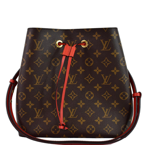 LOUIS VUITTON Neonoe Monogram Canvas Crossbody Bag Coquelicot