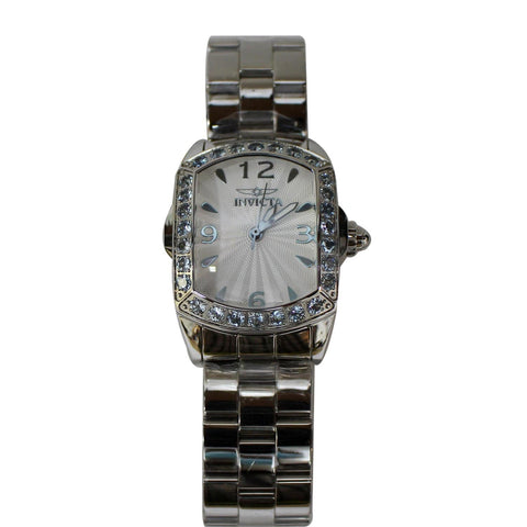 INVICTA Lupah LE Aquamarine Accents Stainless Steel Watch White Dial 39mm