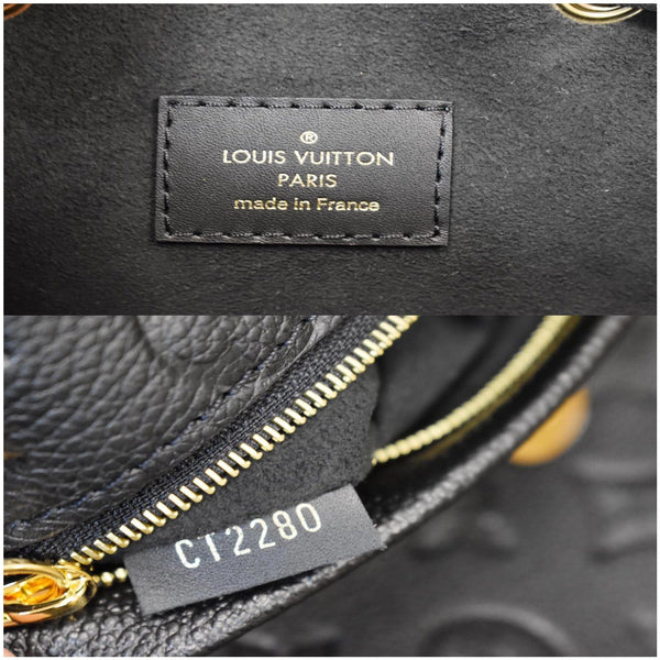 Louis Vuitton Montsouris Empreinte Leather Backpack Bag - made in France