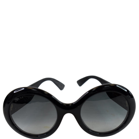 GUCCI Round Sunglasses GG0101S Black