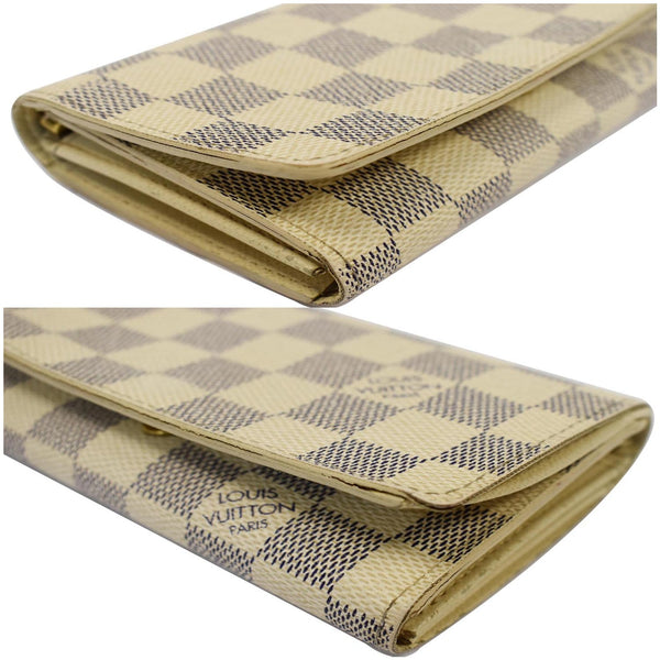 Louis Vuitton Zippy Damier Azur Wallet White - close views
