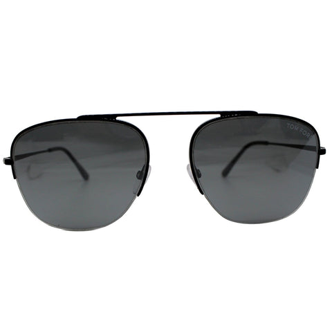 Tom Ford FT0667 01C Shiny Black Sunglasses Smoke Mirrored Lens