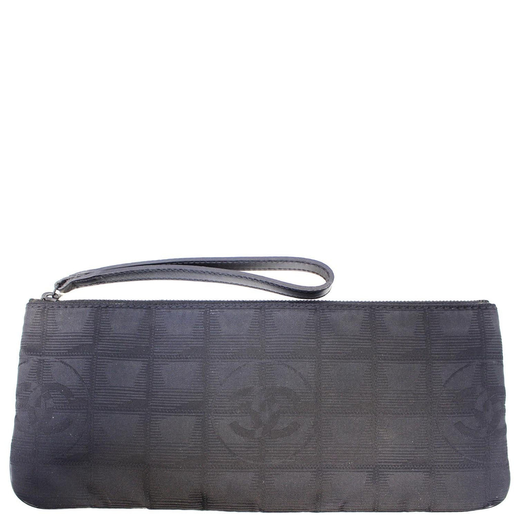 CHANEL Wristlet Cosmetic Pouch Black-US