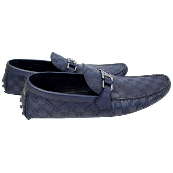 LOUIS VUITTON Hockenheim Damier Infini Moccasin Loafers Blue US 13-US