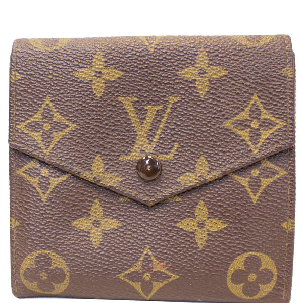 Louis Vuitton Wallet Monogram Canvas Vintage Flap Brown