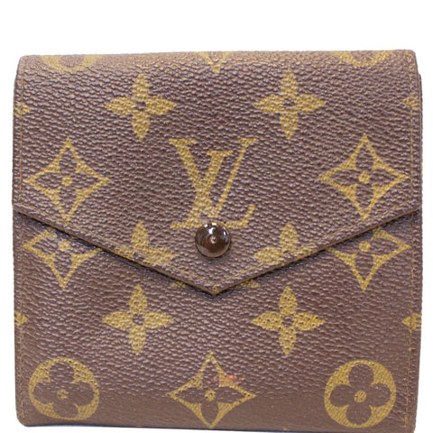 LOUIS VUITTON Monogram canvas Vintage Flap Wallet Brown