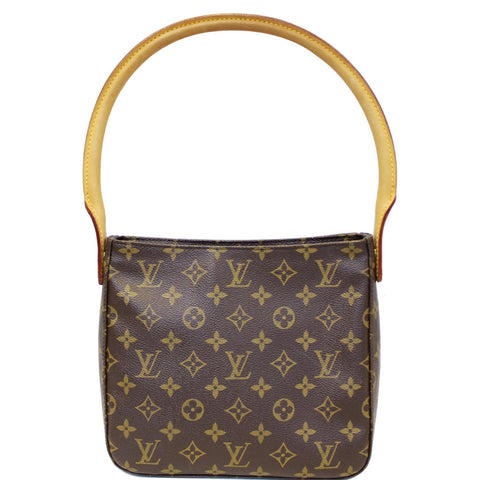 LOUIS VUITTON Looping MM Monogram Canvas Shoulder Bag Brown