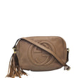 GUCCI Soho Disco Pebbled Leather Small Crossbody Bag Beige 308364