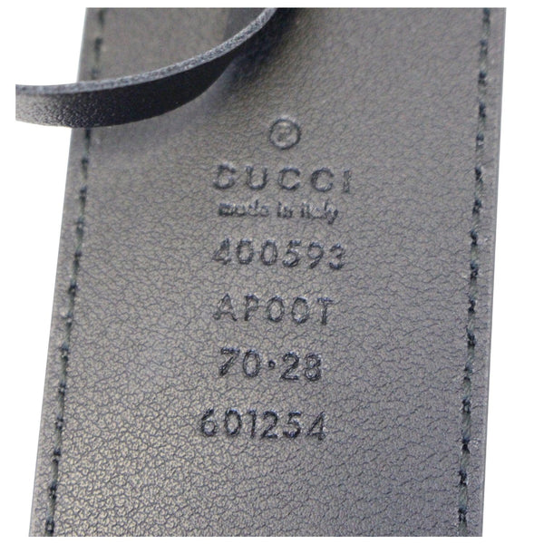GUCCI Double G Buckle Black Leather Belt 400593