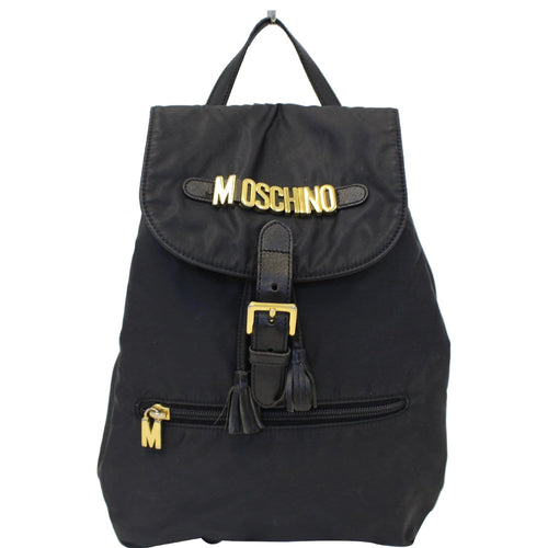 MOSCHINO Nylon Backpack Bag Black