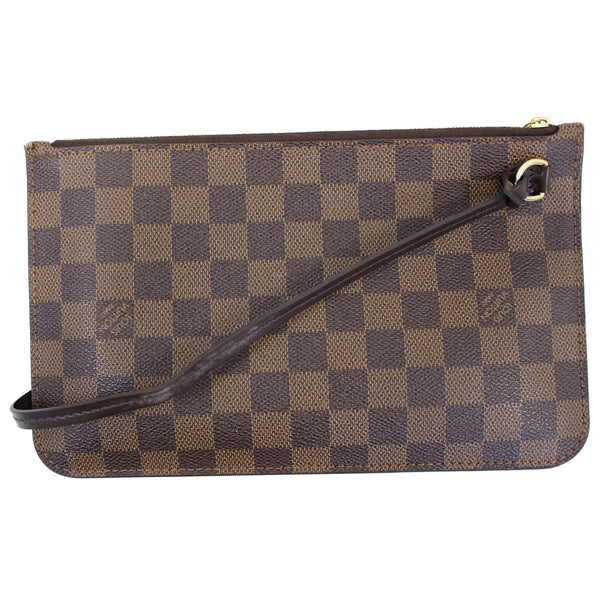 LOUIS VUITTON Pochette Wristlet Pouch Damier Ebene Neverfull MM/GM Brown-US