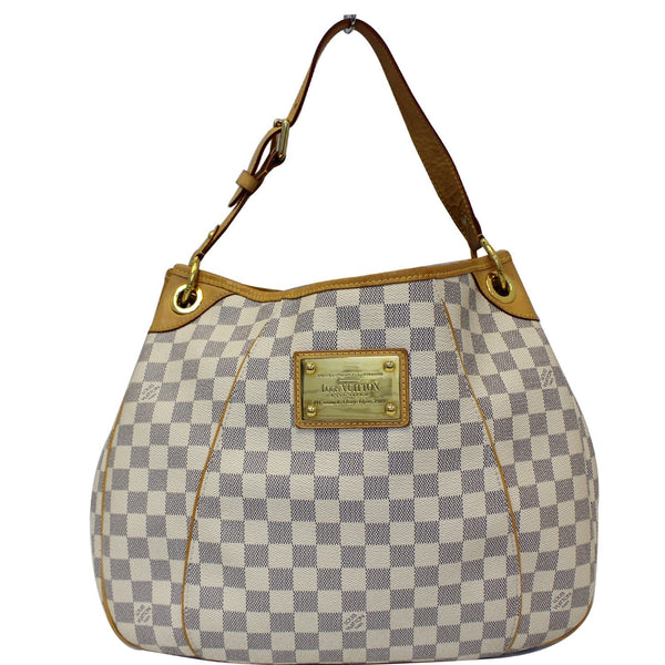 LOUIS VUITTON Galliera PM Damier Azur Shoulder Bag White