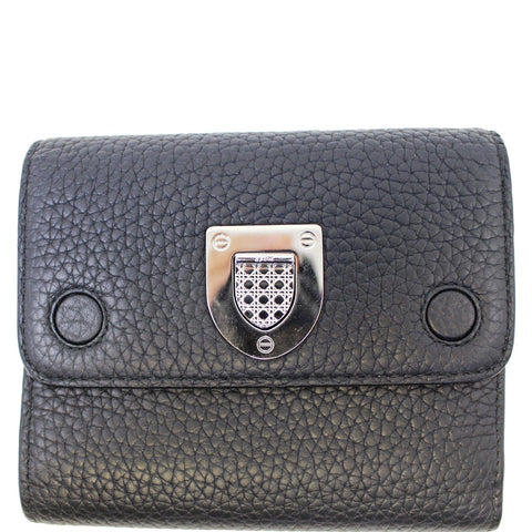 Christian Dior Noir Black Leather Wallet - 20% OFF