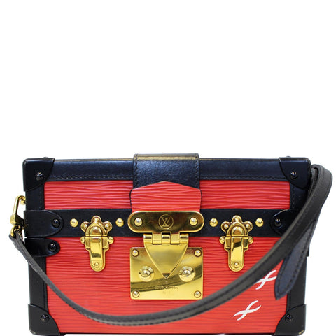 LOUIS VUITTON Petite Malle Epi Leather Shoulder Bag Coquelicot - 20% OFF