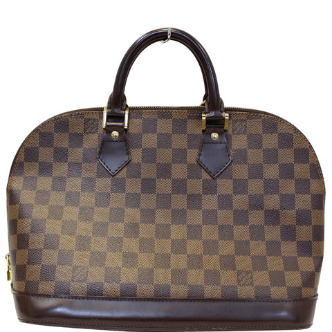 LOUIS VUITTON Alma PM Damier Ebene Satchel Bag Brown