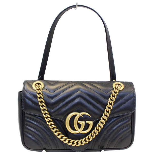 GUCCI GG Marmont Small Matelasse Leather Crossbody Bag Black-US
