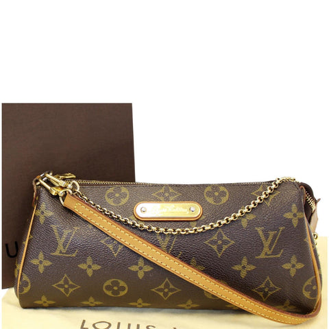 LOUIS VUITTON Pochette Eva Monogram Canvas Clutch Crossbody Bag
