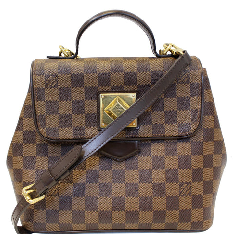 LOUIS VUITTON Bergamo PM Damier Ebene Shoulder Bag Brown