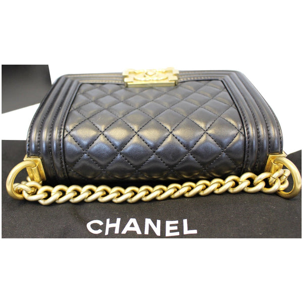 Chanel Le Boy Small Lambskin Leather Shoulder Bag - chanel straps