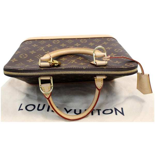 LOUIS VUITTON Alma PM Monogram Canvas Satchel Bag Brown