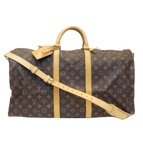 Louis Vuitton Keepall 55 Bandouliere Travel Bag - front view
