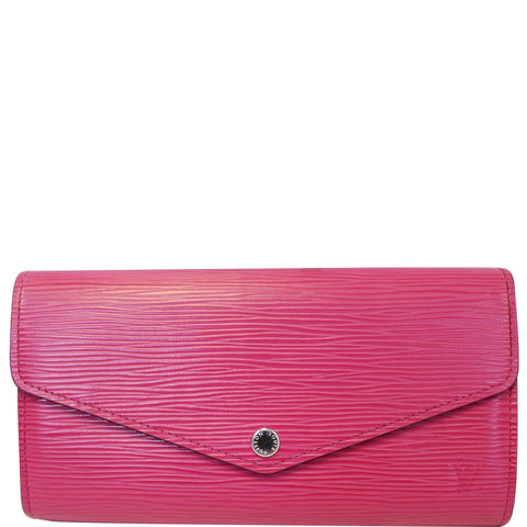 LOUIS VUITTON Sarah Epi Leather Wallet Pink