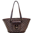 LOUIS VUITTON Manosque PM Damier Ebene Shoulder Bag Brown