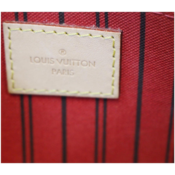 Louis Vuitton Neverfull MM Pouch Wristlet Pochette - lv logo