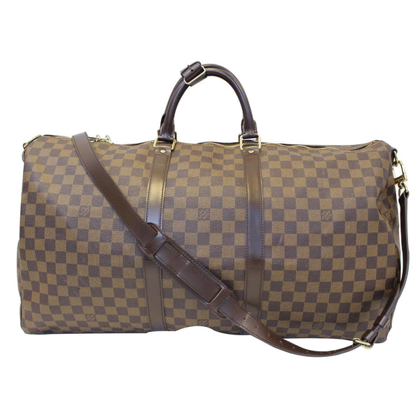 Louis Vuitton Keepall - Lv Damier Ebene Travel Bag brown