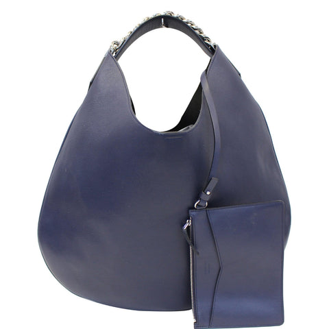 GIVENCHY Infinity Leather Medium Hobo Bag Blue - 15% OFF