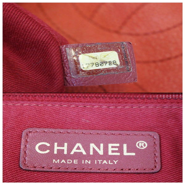 Chanel Flap Red Soft Caviar Shoulder Crossbody Bag - chanel logo