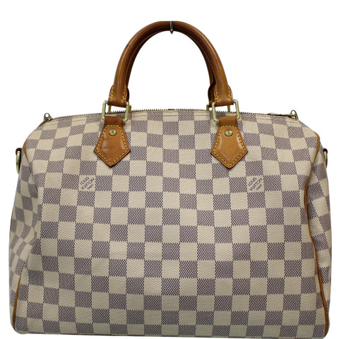 Louis Vuitton Speedy 30 Damier Azur Bandouliere Satchel Bag