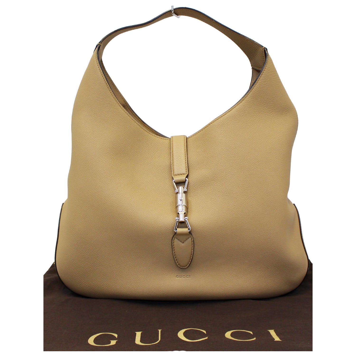 e888cfd64065bb GUCCI Jackie Soft Leather Hobo Bag 362968 Beige