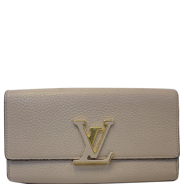 Louis Vuitton Capucines Wallet in Galet for Women
